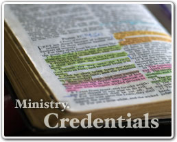 Ministry Credentials
